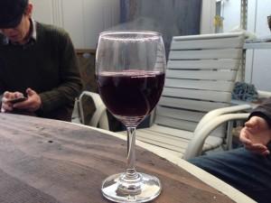 野外でホットワイン