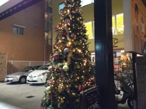 HOME Cafe前クリスマスツリー