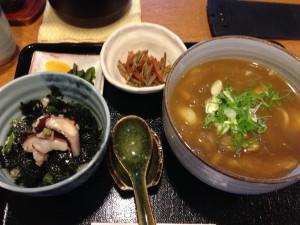 紅葉庵カレーうどん+日替ミニ丼